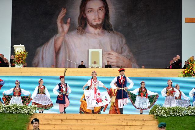 Powitanie papieża przez młodych, 28 VII 2016