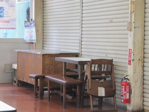 姫路競馬場の机
