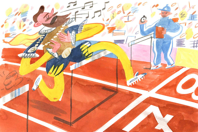 The Hurdler, Opera Olympics, Royal Opera House © 2016 ROH. Image by William Goldsmith
