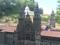 Cathedral of Santiago de Compostela AND St Peters Church in  Rome