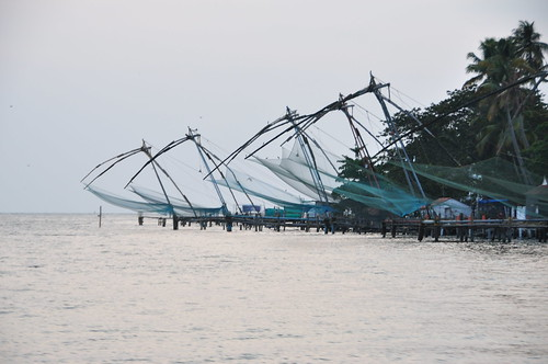 Another distant shot of the Chinese fishing nets