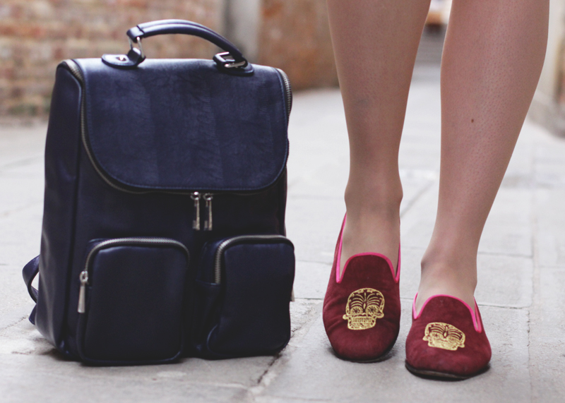 Penelope Chilvers Slippers and Asos Rucksack, Bumpkin Betty