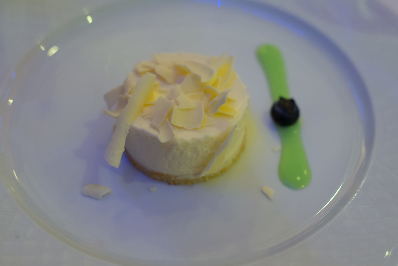Manjar de chocolate blanco al Marc de Champagne - La Capilla de la Bolsa