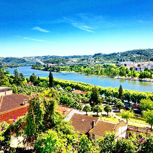 On the hill top over the city of #Coimbra and Dos Moinhos #River #Portugal