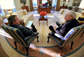 President Bush and Vice President Cheney in the Oval Office