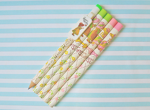 Vintage (RIBBON) Green Hills pencils