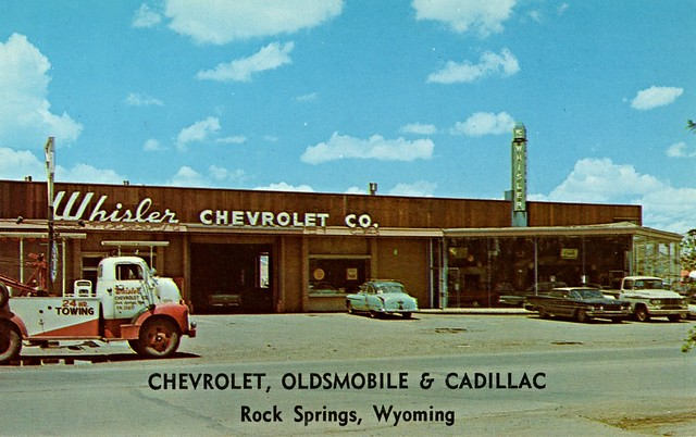 whisler chevrolet co rock springs wy 1960 a photo on flickriver. Black Bedroom Furniture Sets. Home Design Ideas