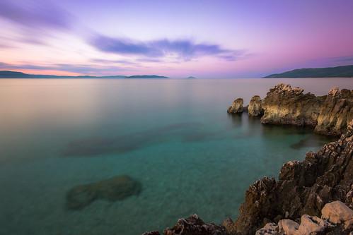 rabac istarskažupanija croatia istria sunrise morning hrvatska longexposure purple canon 550d europe water balkans travel