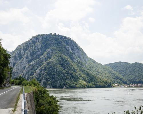 danube hill river road romania serbia tree water donjimilanovac borskiokrug rs