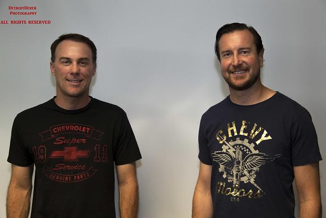 Nascar Drivers Kevin Harvick and Kurt Busch