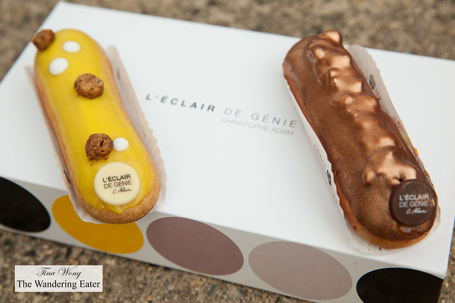 Yuzu Citron and Pecan Praline eclairs