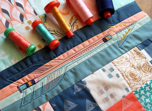 Aurifil Stitched Arrow