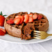 WHOLE WHEAT CHOCOLATE WAFFLES by Julie West | The Simple Veganista