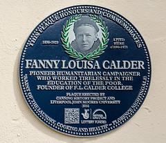Photo of Fanny Calder blue plaque