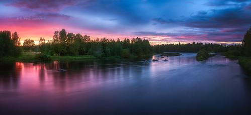 River Kiiminkijoki sunset 11.8