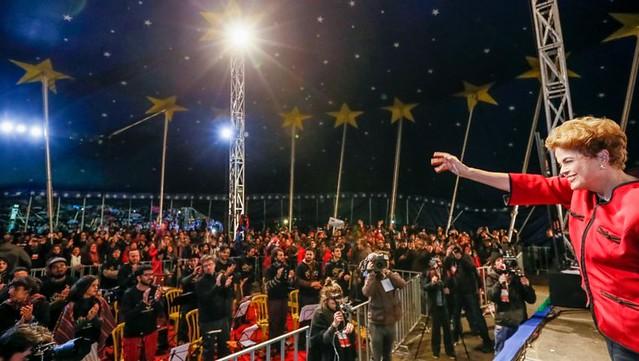 """""""El programa de Temer jamás hubiese sido electo en las urnas"""", afirmó Dilma durante su visita a un evento de la izquierda - Créditos: Foto: Roberto Stuckert Filho/PR"""