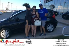 Congratulations John & Haleigh on your #Nissan #Versa Note from Anthony Hoover at Mac Haik Nissan Corinth! #NewCar
