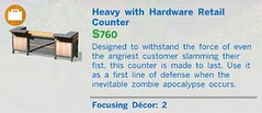 Heavy with Hardware Retail Counter