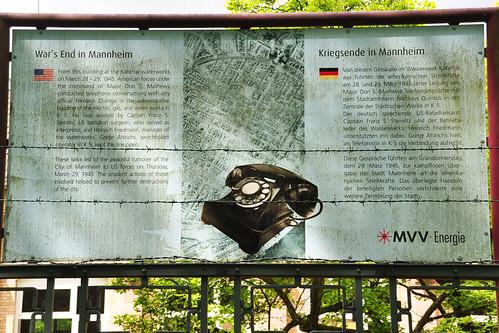 Mai-Spaziergang im Käfertaler Wald Mannheim Wasserwerk ... Kriegsende in Mannheim