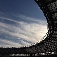 #stadium #clouds #sky #blue