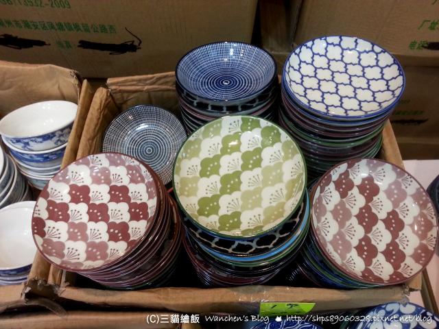 士林夜市 碗盤餐具特賣