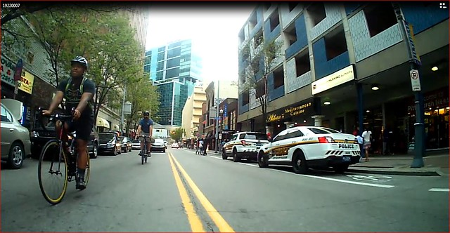 cops in bike lane