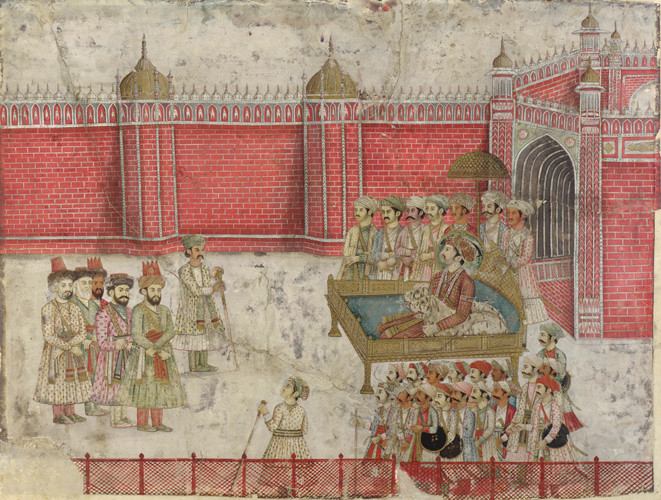 Afsharid forces negotiate with a Mughal Nawab after Battle of Karnal