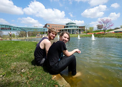 Eye on UMSL:  Feet in pond:  May 22, 2015