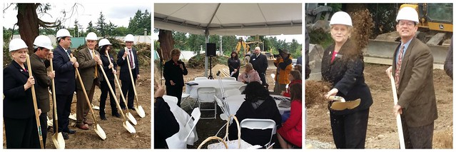 Rep. Kochmar speaks at the Multi-Service Center's groundbreaking of a veterans housing facility to serve South King County.