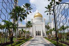 Entrance to the Sultan Omar Ali Saifuddin Mosque