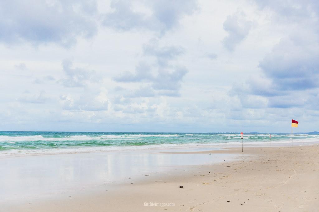 The beach in Gold Coast, Australia