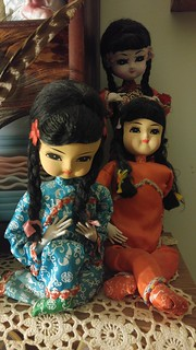 Asian looking pose dolls