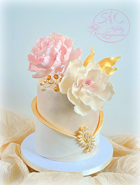 Cake by Sugar Flowers Creations - Nicky Lamprinou