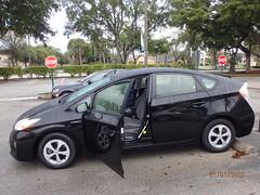 automobile, automotive exterior, vehicle, compact car, toyota prius, land vehicle,