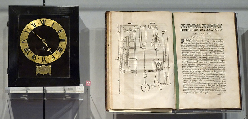 Pendulum clocks designed by Christian Huygens and his treatise on the pendulum