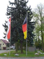 Zum 1. Mai gehisste Flaggen