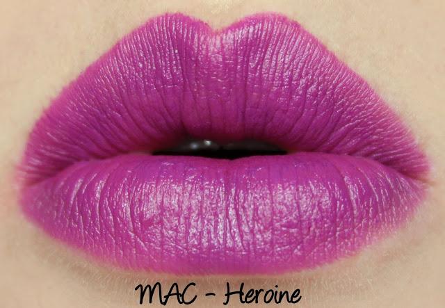 9.1 MAC Heroine Dupe - Maybelline Vibrant Violet