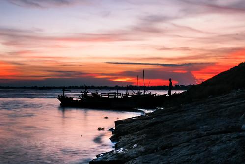 light sunset sky cloud man color reflection dark evening boat ngc boundary