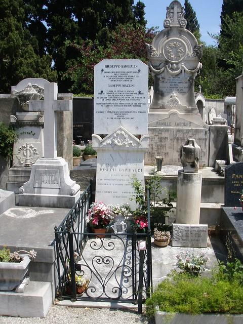 Giuseppe Garibaldi, Giuseppe Mazzini - Nice, French Riviera