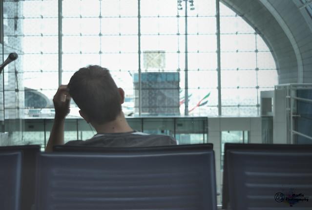 Waiting at the airport Dubai