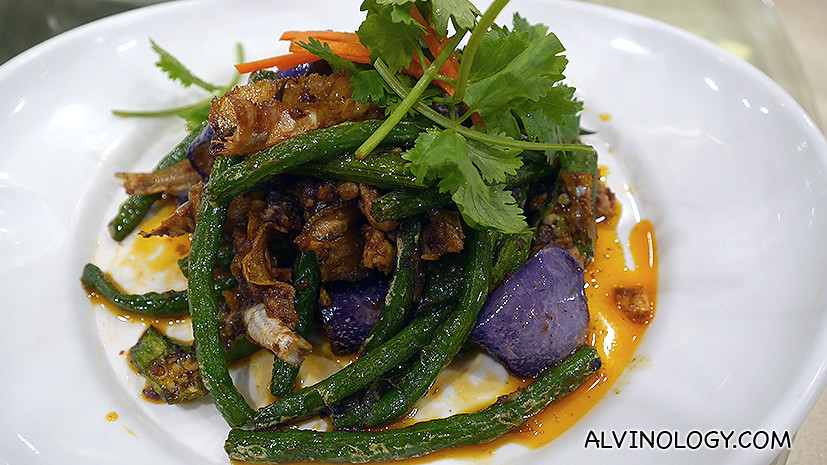 Stir-fried French Bean with Eggplants