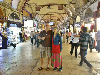 Dave and Errin in the Grand Bazaar