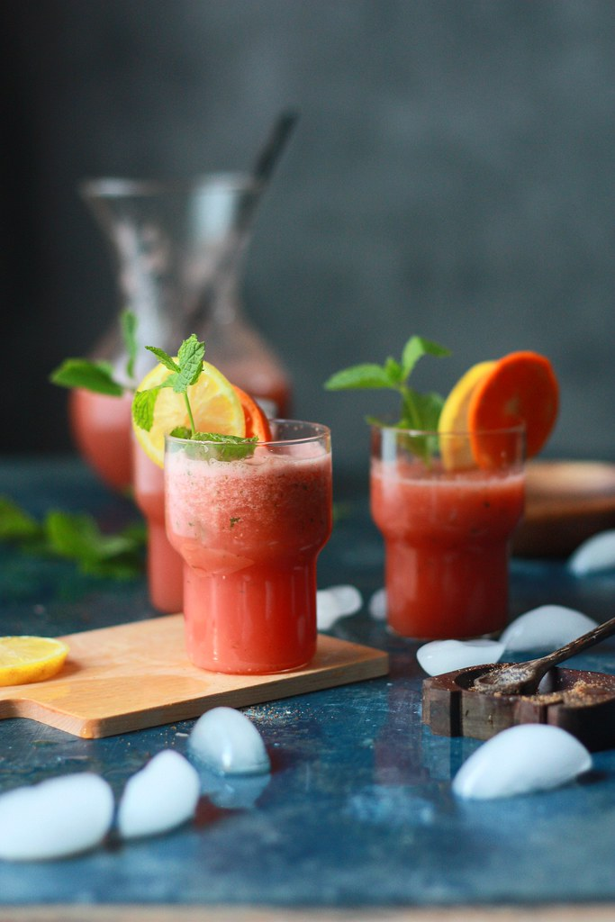 Spiced Watermelon-Orange Mint Drink