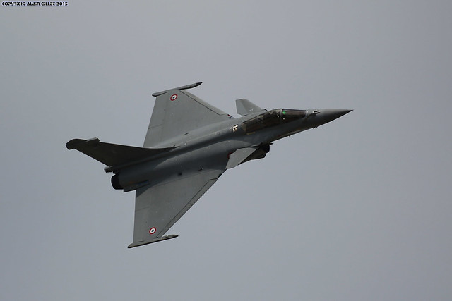 Paris Air show 2015 Rafale Armee de l'air (Validation flight)
