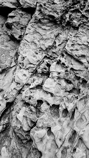 Rocks at Garapata SP (B&W)