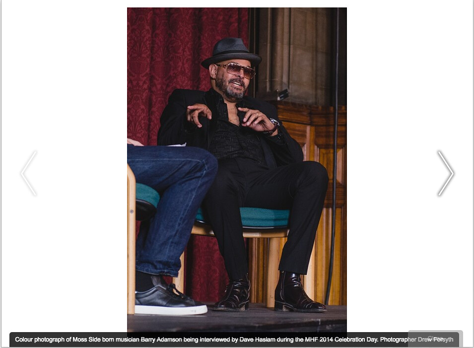 Photo by Drew Forsyth: Barry Adamson, Manchester Town Hall, 2014