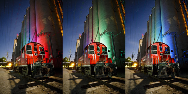 RGB Silos Triptych