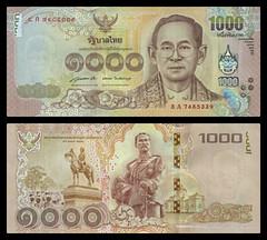 (THB9a) 2015 Thailand, One Thousand Baht (A/R)... ,