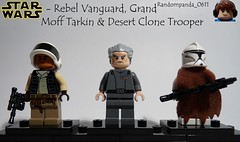 Rebel Vanguard, Grand Moff Tarkin & Desert Clone Trooper