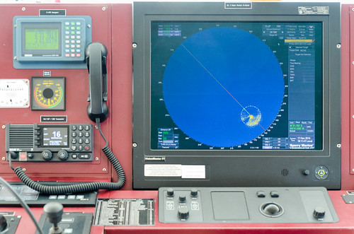 Cargo ship bridge - radar